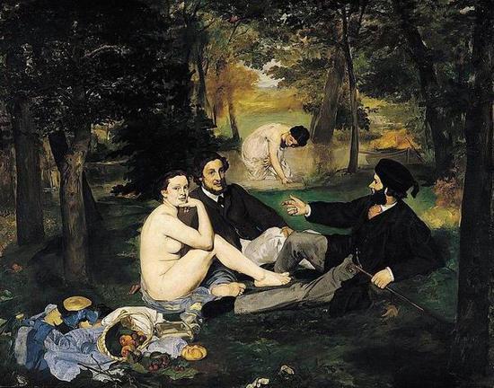 《草地上的午餐》,1862