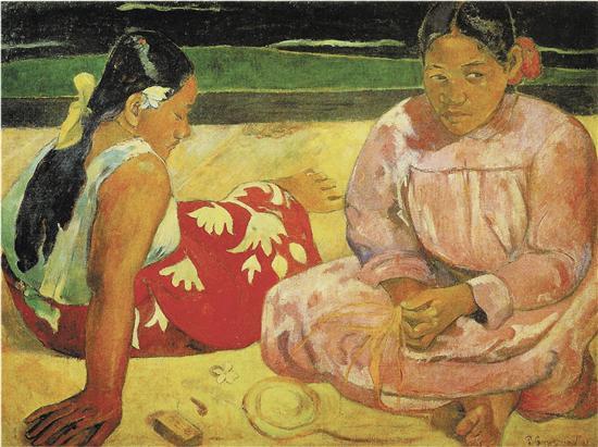 保罗·高更 沙滩上的塔希提岛女人 布面油画 巴黎奥赛博物馆藏