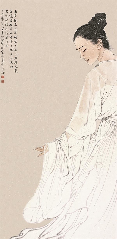 了无一点尘凡气 纸本 138cm x 68cm 2009年 入选第九届中国艺术节全国优秀美术作品展览.jpg