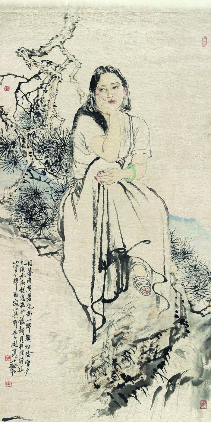 何家英2006年作《日暮消烦暑》,北京荣宝2019秋拍会获价195.5万元