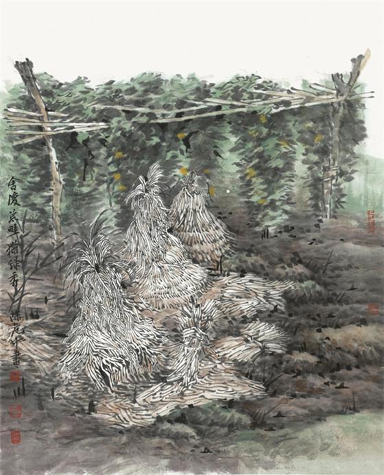 舍后荒畦犹绿秀-2020年48cm×60cm.jpg