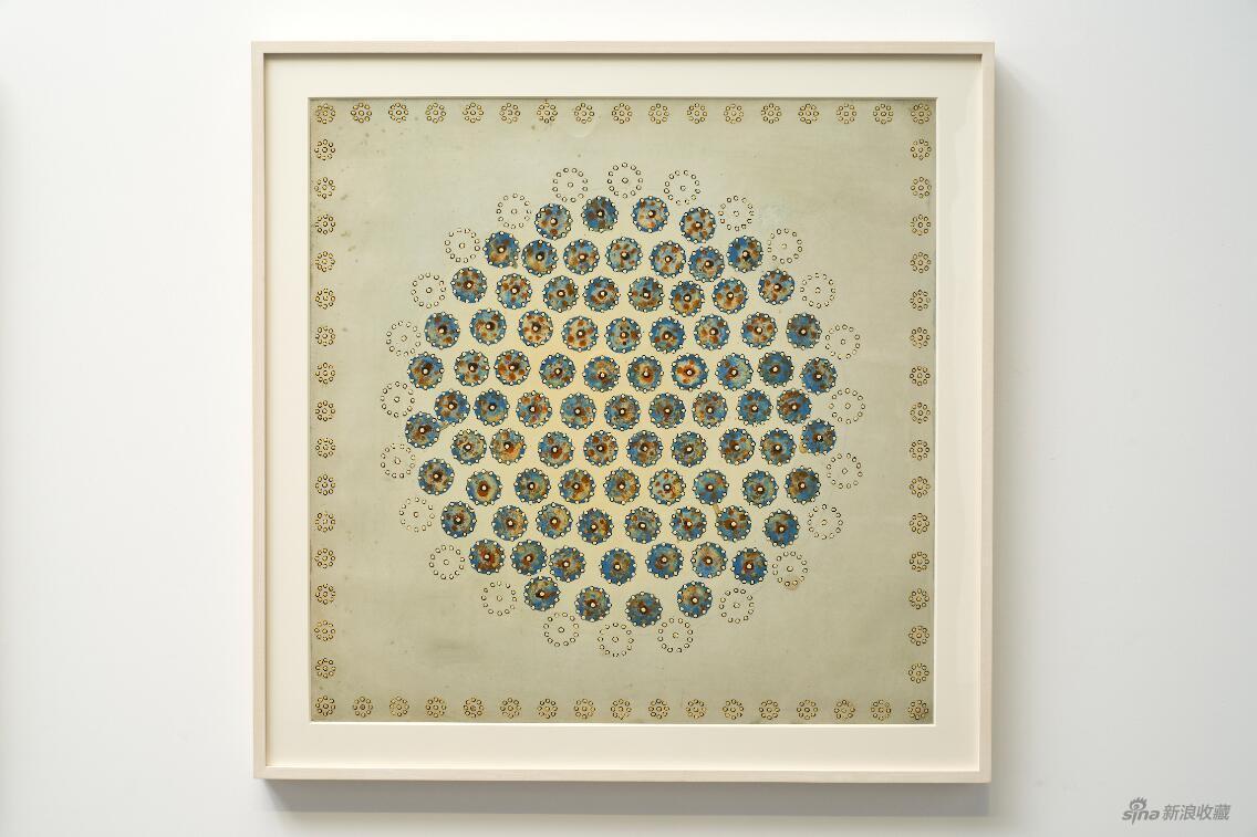 陈墙CHEN Qiang,Work 04-7,2004,纸本油画Oil on paper,79x79cm