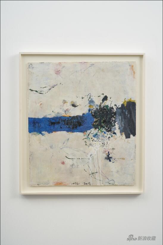 黄渊青HUANG Yuanqin, 无题Untitled(现场图), 1998-2020, 宣纸综合材料Mixed media on rice paper, 97 x 85 cm