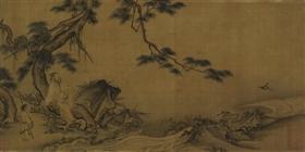 南宋马远《松泉双鸟》 台北故宫博物院藏_b