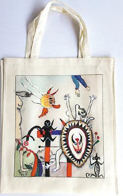"""环保袋上有创意 拒绝素颜看我""""七十二变"""" - 人民美术"""